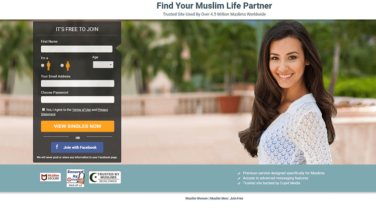 beautiful muslim single woman and log in screen