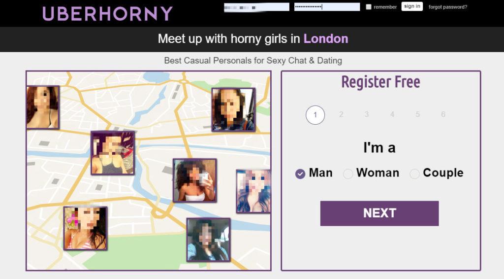 uberhorny radar on website