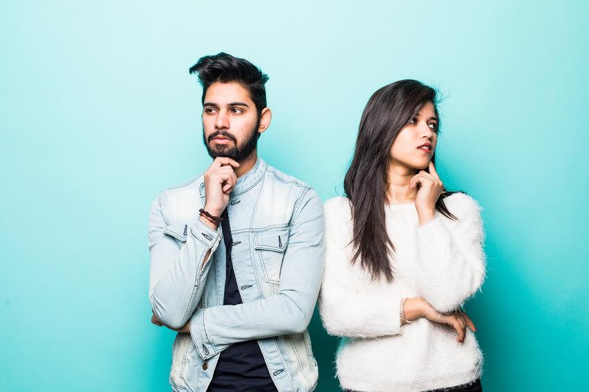 young modern muslim couple