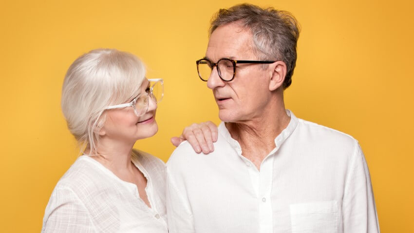 couple over 60 with glasses