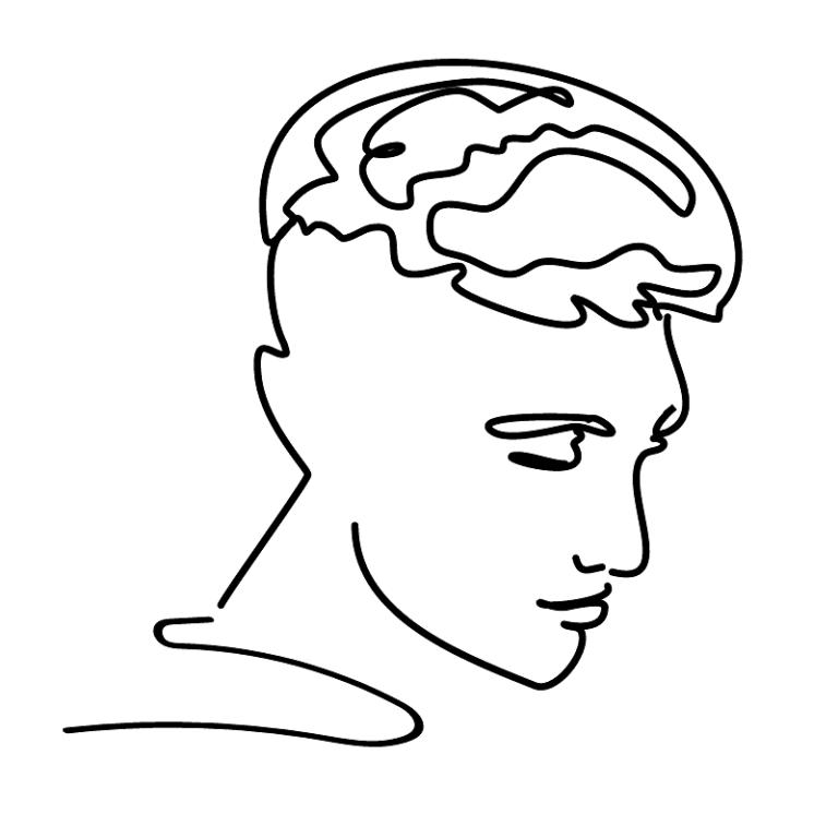 black line profile drawing of an anti fuckboy