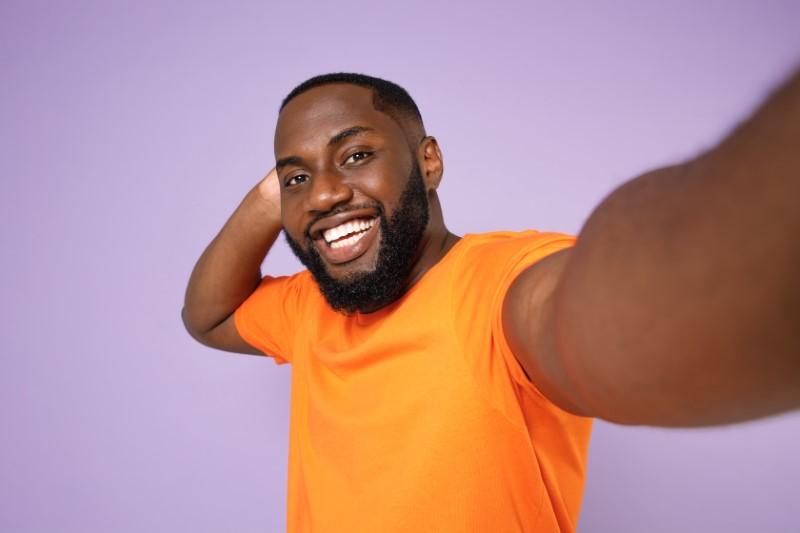 Selfie of a man