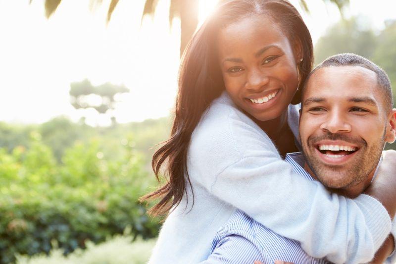 Happy Christian couple