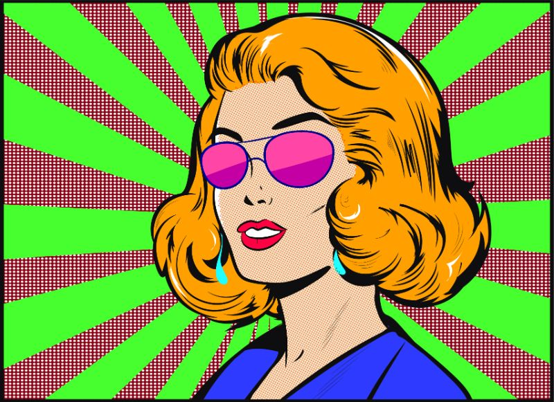 illustrated woman in comic style
