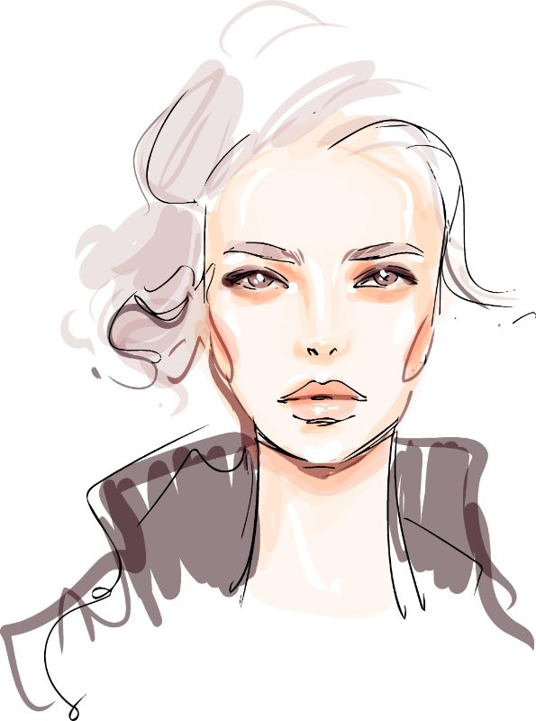 illustration of a mature woman